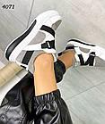 Женские кроссовки белого/серого цвета, натуральная кожа/натуральная замша, фото 5