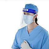 Антивирусный защитный экран для лица пластиковый Face Shield (10 шт./уп.) медицинский, лицевой, фото 7