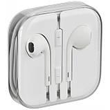 """Наушники для телефона с микрофоном, проводная гарнитура, белые, 3.5 Jack (копия """"яблочных""""), фото 3"""