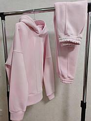 Женский спортивный костюм. Цвет пудраа. Размер S, M, L, XL