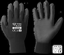 Рукавички захисні PURE BLACK поліуретан, розмір 9, RWPBC9