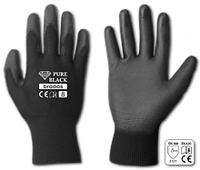 Рукавички захисні PURE BLACK поліуретан, розмір 11, RWPBC11