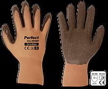 Перчатки защитные PERFECT GRIP BROWN латекс, размер  9, RWPGBR9