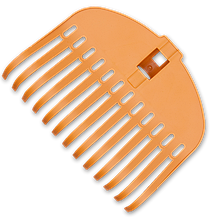Грабли пластиковые TQ, 13 эластичных зубцов,  без черенка, TQ-G13