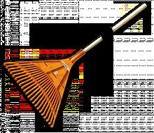 Граблі віялові — 22 зубці, дерев'яний держак, KT-CX22B