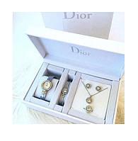 Подароочный набор из часов, браслета, кольца, цепочки и сережек в подарочной упаковке SKL11-283030