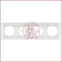 Рамка четвертна біла Panasonic arkedia slim (WNTC0804-2WH) (480500133)