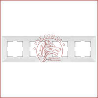 Рамка четвертная белая Panasonic arkedia slim (WNTC0804-2WH) (480500133)