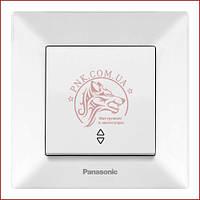 Выключатель проходной одинарный белый Panasonic arkedia slim 250V 10A (WNTC0003-2WH) (480100194)