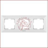 Рамка тройная белая Panasonic arkedia slim (WNTC0803-2WH) (480500131)