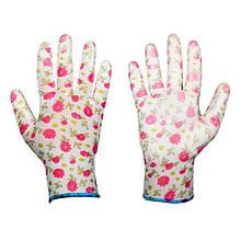 Захисні рукавички, PURE PRETTY, поліуретан, розмір 7, RWPPR7
