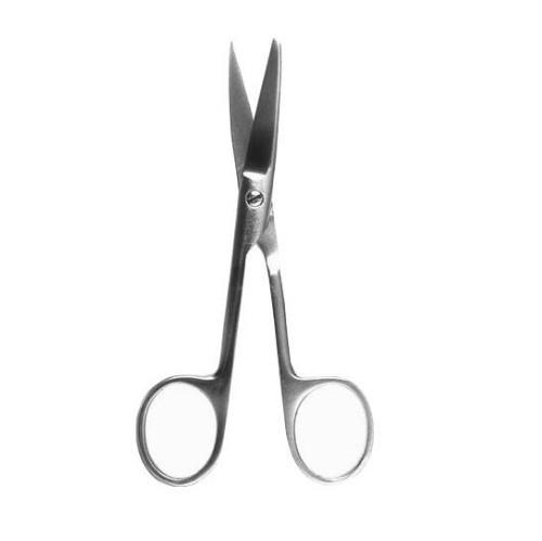 Ножиці операційні прямі з одним гострим кінцем 120мм