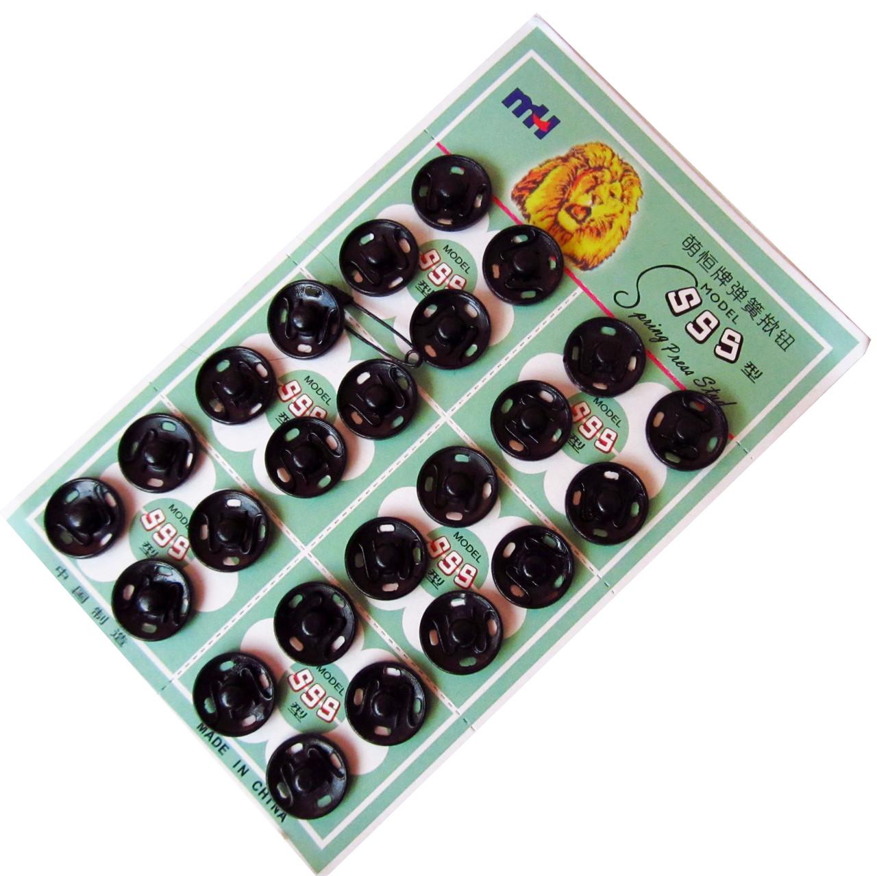 Кнопки пришивные №3 (14мм/24шт) Черный