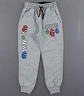{есть:122} Спортивные брюки Амонг Ас для мальчиков ,  Артикул: T8054-серый [122]