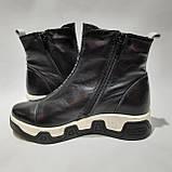 36,41 р. Женские зимние сапоги ботинки на меху кожаные полусапожки, фото 6