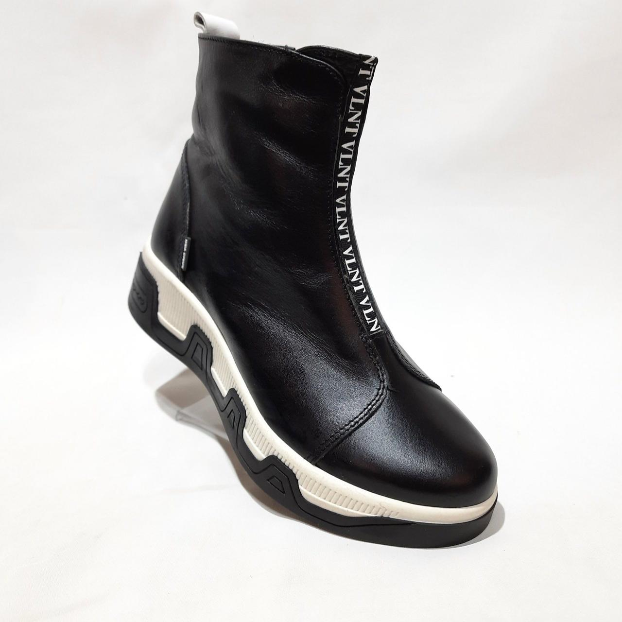36,41 р. Женские зимние сапоги ботинки на меху кожаные полусапожки