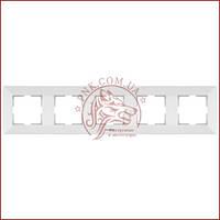 Рамка пятерная біла Panasonic arkedia slim (WNTC0805-2WH) (480500135)