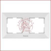 Рамка двойная белая Panasonic arkedia slim (WNTC0802-2WH) (480500129)