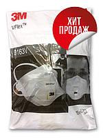 Защитная маска респиратор с клапаном 3m Vflex 9163v FFP3 15 шт в упаковке