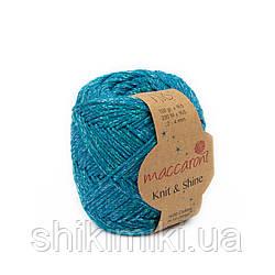 Трикотажний шнур з люрексом Knit & Shine, колір Морська хвиля