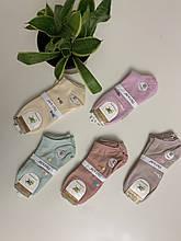 Женские короткие носки х/б с рисунком