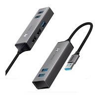 Хаб Baseus Cube USB на 3 USB 3.0 + 2 USB 2.0 2 HUB Adapter (CAHUB-C0G)
