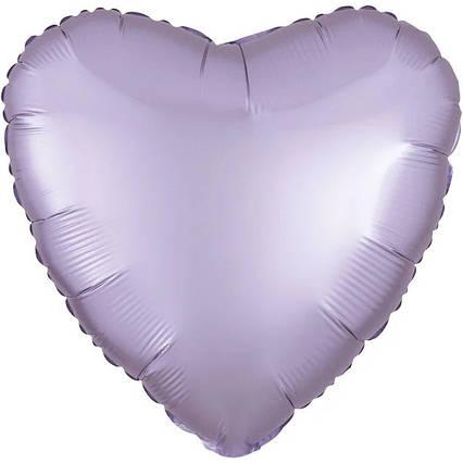 """Шарик фольгированный """" сердце ОМБРЕ бело- голубое 45 см,Flexmetal Испания"""