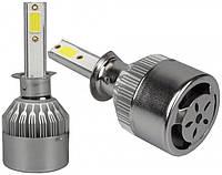 """Автомобильные лед лампы H1 """"C6L"""" (COB, 3800Lm, 5000K, 25W, 12-24v, с активным охлаждением), фото 1"""