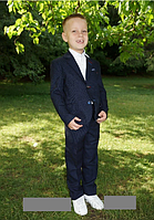 Костюм школьный синий для мальчика р.110-134 Украина
