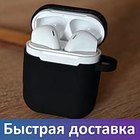 Черные наушники i12 tws AirPods, беспроводные наушники Bluetooth c микрофоном