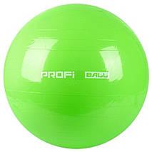 Фитбол Profi Ball 75 см. Серый (MS 0383G), фото 2