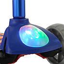 Детский самокат с фонариком | Детский бирюзовый самокат 08N, фото 4