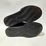 36,39 р. Зимние женские кожаные сапоги ботинки на меху полусапожки Черные, фото 8