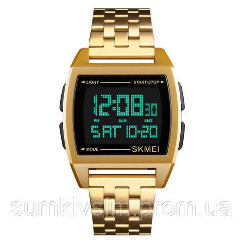 Мужские часы Skmei 1368 Gold-Black