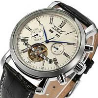 Мужские часы Jaragar 540 Black-Silver-White