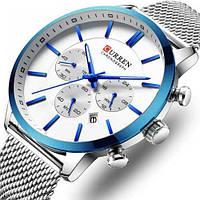 Мужские часы Curren 8340 Silver-Blue, фото 1