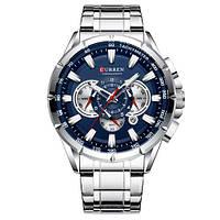 Мужские часы Curren 8363 Silver-Blue, фото 1