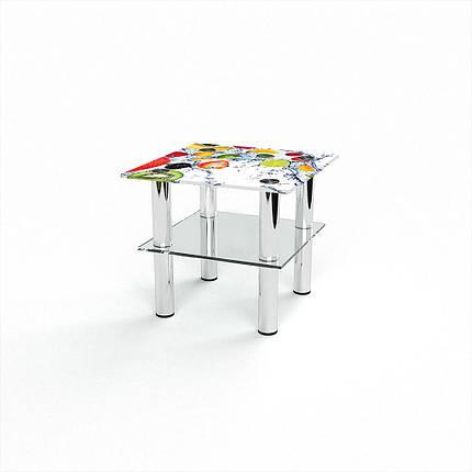 Скляний прямий комп'ютерний стіл БЦ Стіл Альтаір, фото 2
