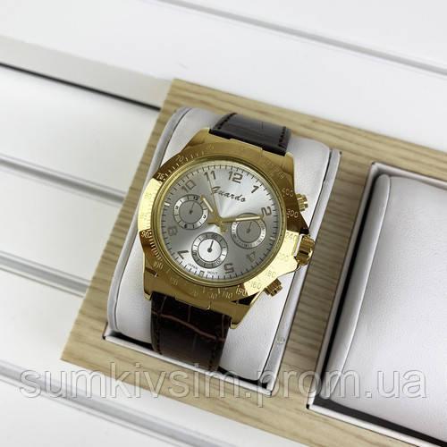 Женские часы Guardo 01441 Brown-Gold-White