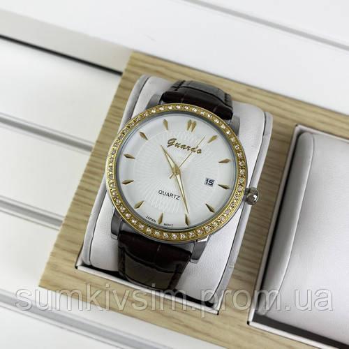 Женские часы Guardo 10603 Brown-Silver-Gold-White