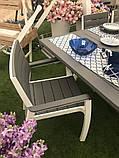 Набір садових меблів Harmony Fiesta Set 6 Cappuccino Brown ( капучіно коричневий ) ( Allibert by Keter ), фото 3