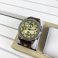 Мужские часы Guardo 10281-3 Brown-Silver-Gold, фото 1