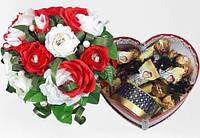 """Подарочная коробочка в форме сердца с чаем и конфетами"""" Рандеву"""""""