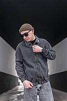 Куртка мужская джинсовая весенняя осенняя Dart темно-серая | Джинсовка мужская ЛЮКС качества