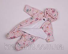 Дитячий демісезонний комбінезон для немовляти - осінній комбінезон для діток від 0 до 6 міс, фото 3