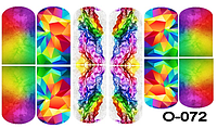 Слайдер дизайн (водная наклейка) для ногтей O-072