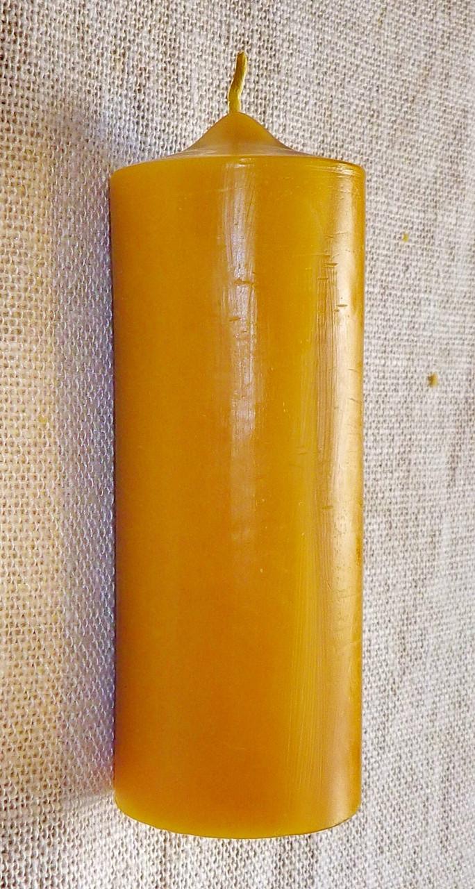 Цилиндрическая восковая свеча D60-155мм из натурального пчелиного воска