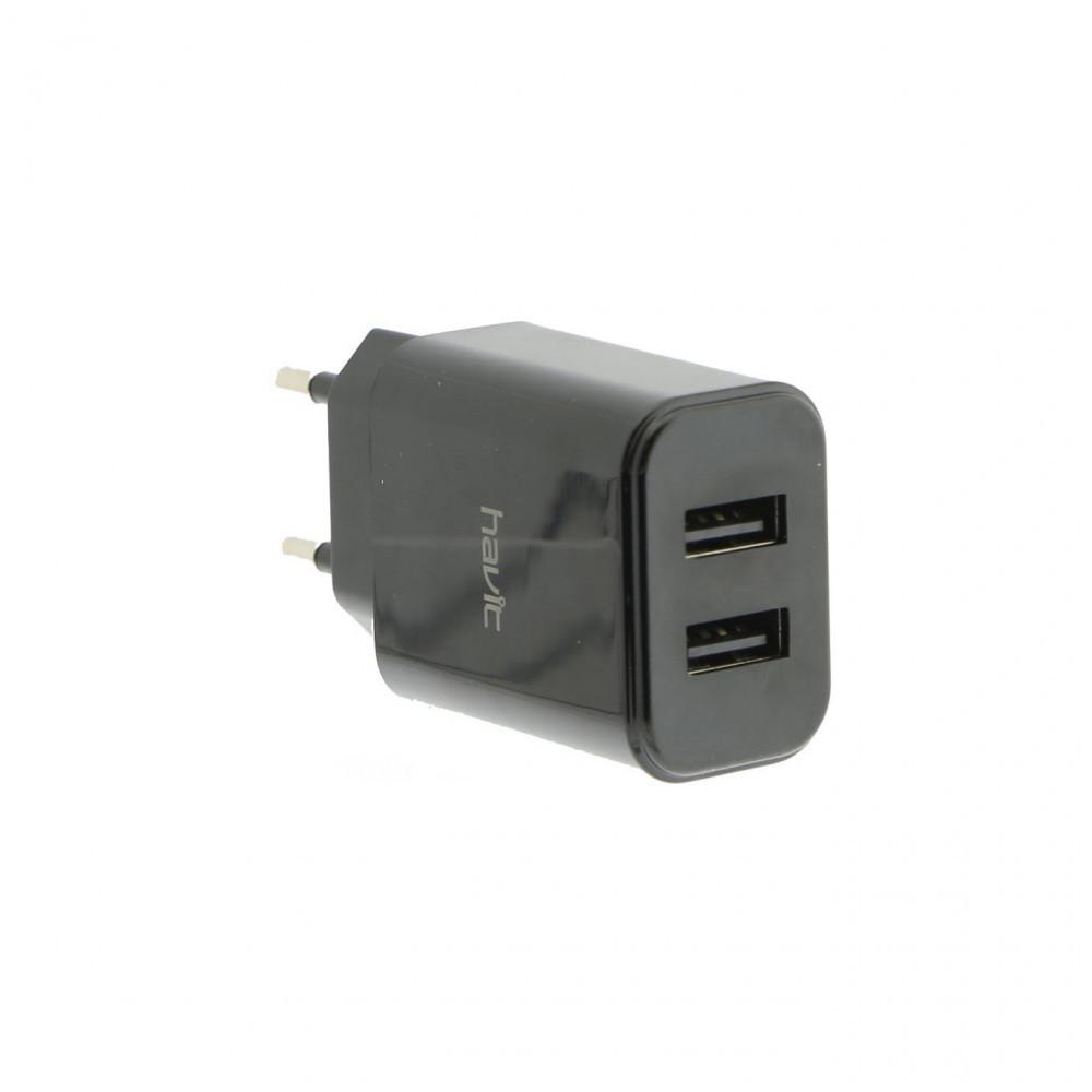 Пристрій зарядний Havit №HV-H140 для мобіл. телеф. 2USB, 5V, 2,4 A black