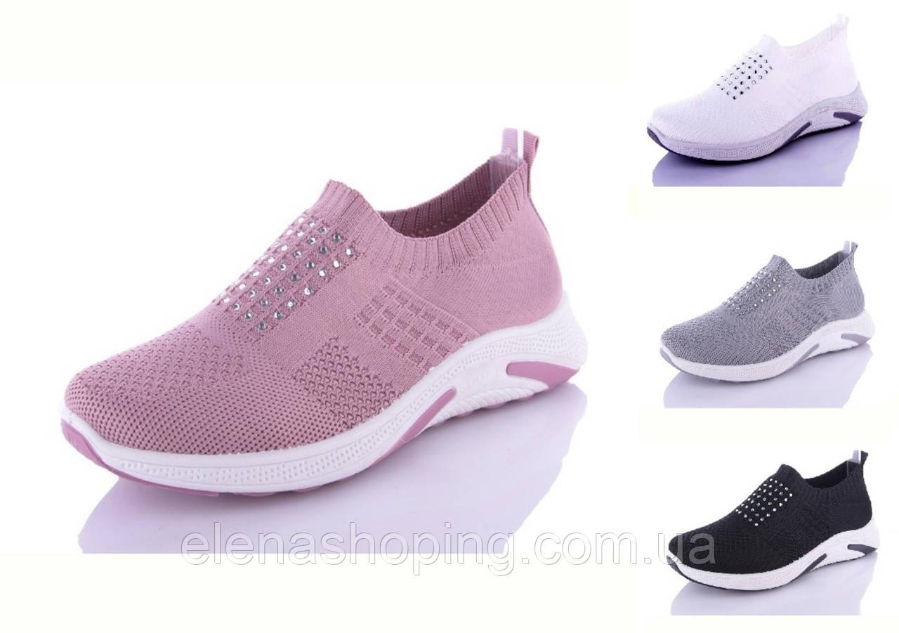 Женские текстильные кроссовки р36-41(код 6930-38)