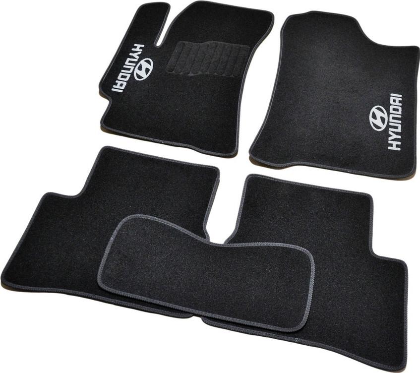 Коврики в салон ворсовые для Hyundai Accent (2006-2010) (Verna) /Чёрн, Стандарт BLCCR1214